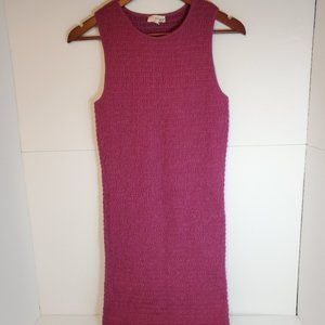 Aritzia wilfred textured runched bodycon dress